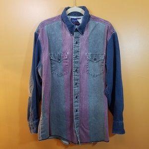 Vintage Wrangler Mens Button Down Longsleeve Shirt